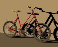 简单的自行车3D模型