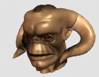一个怪物的头部maya模型