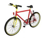 时尚自行车3D模型