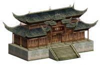 禅院,寺庙,古建筑3D模型