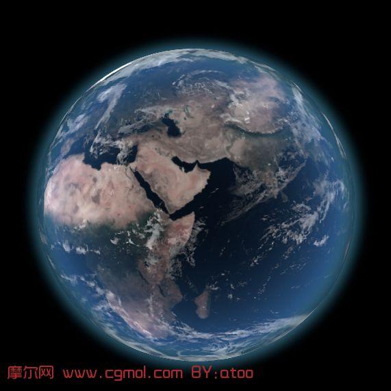 高精度地球,maya模型(带地球展示动画)