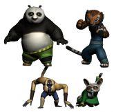 功夫熊猫中的四角色3D模型