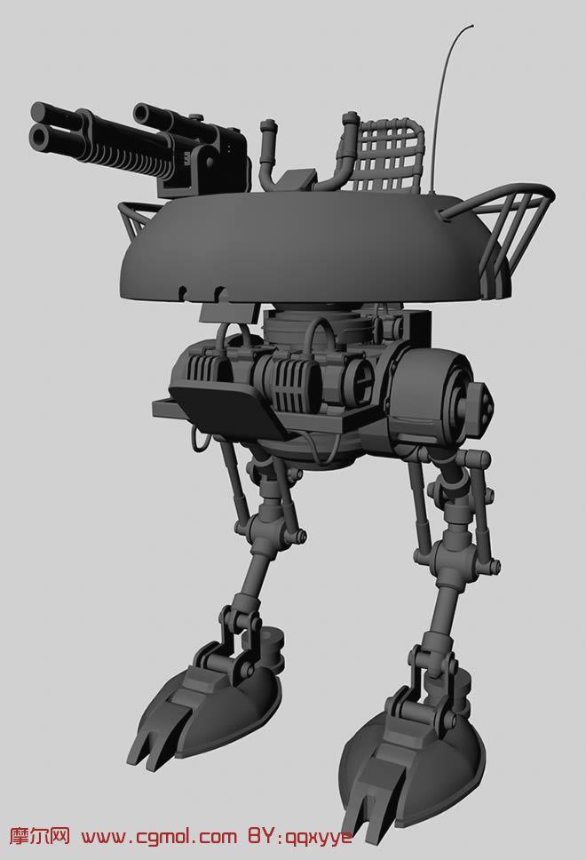 带简单绑定的机器人3d模型