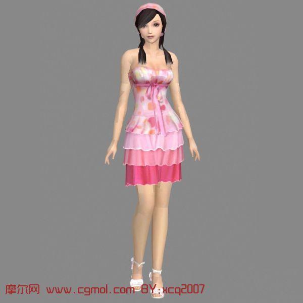 精致美女3d模型 其他