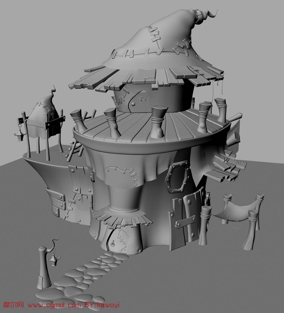 房子,maya高清图片