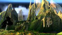 群山,山景,花草,庙宇,自然景观,仙境3D模型