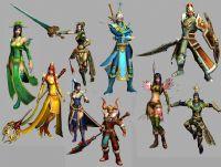 网游《天下贰》角色,云麓,天机,翎羽,弃剑,荒火,太虚,冰心职业3D模型