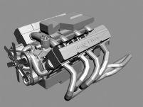 汽车发动机3D模型