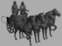 马车,历史雕塑3D模型