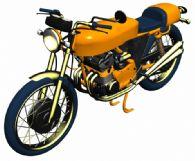 精细摩托车max模型