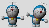 哆啦a梦,机器猫,maya卡通模型(已做好绑定)