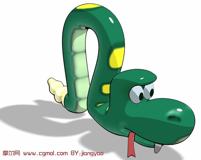 手绘3d 蛇图片