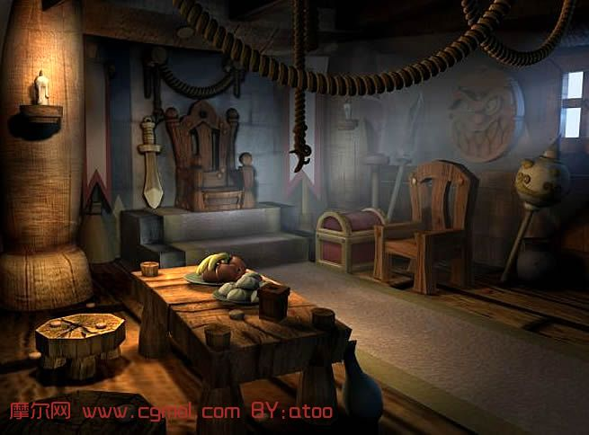 卡通场景,maya模型,其他,场景模型,3d模型免费下载 高清图片