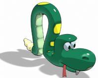 卡通蛇3D模型