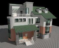 国外别墅建筑3D模型