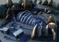 科幻雪地场景3D模型