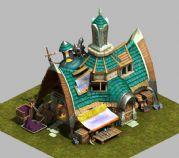 卡通武器商店,建筑场景3D模型