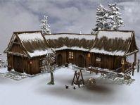 下雪场景,房子3D模型
