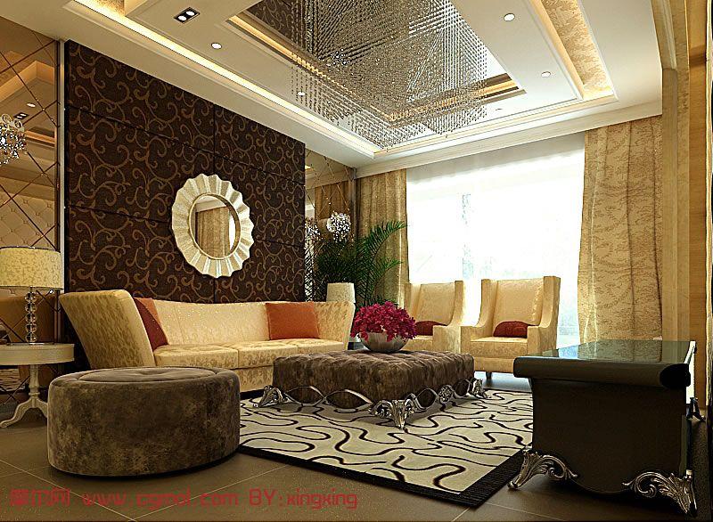 奢华的欧式室内效果设计3D模型
