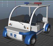 巡警车,巡逻车,电动车,汽车,maya模型