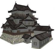 古庙,古寺,寺庙,庙宇,寺庙群建筑3D模型