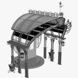 户外门檐,雨棚设计3D模型