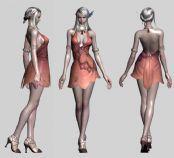 次时代游戏TERA中的女性角色3D模型