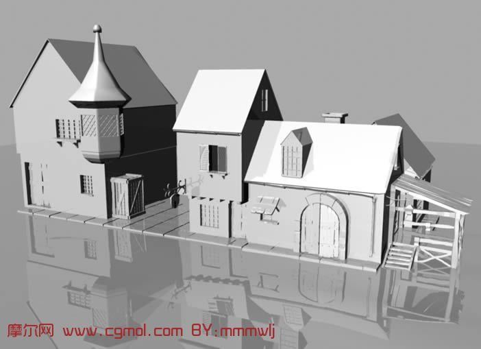 农家房屋,maya模型