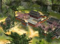网游《诛仙2》中的静竹轩场景3D模型