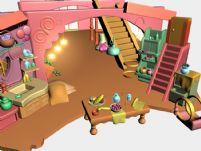 很可爱的室内场景,maya模型