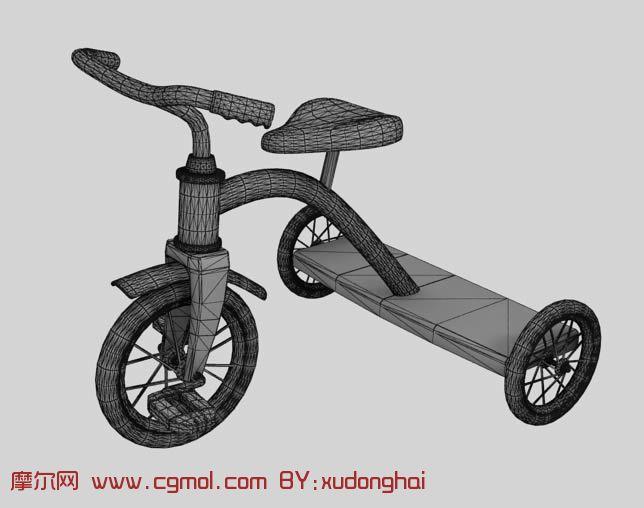 小孩自行车玩具,max模型
