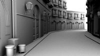 街道场景,maya模型