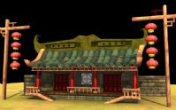 Q版房屋,小店,maya模型