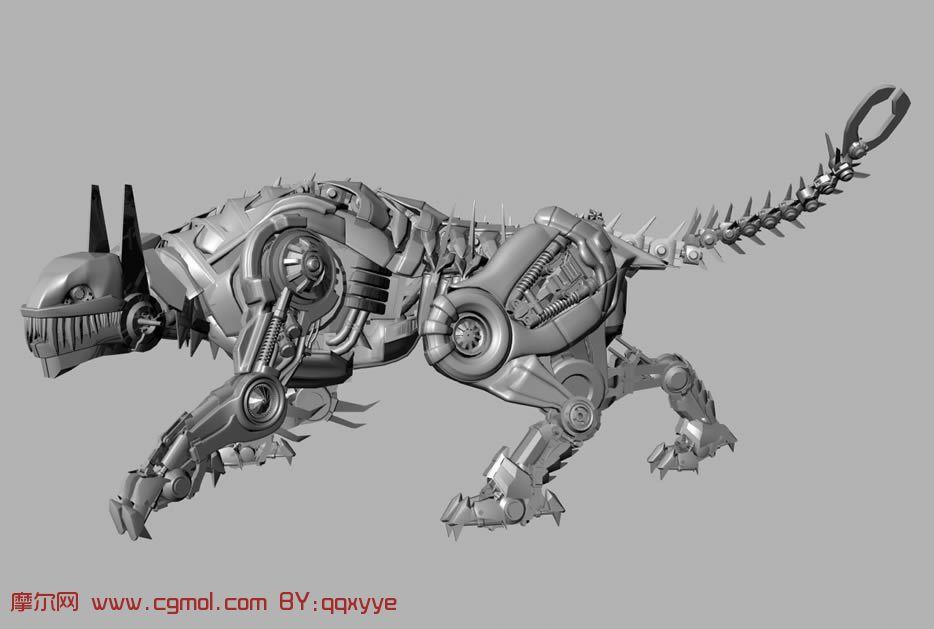 变形金刚中的机械虎,maya模型