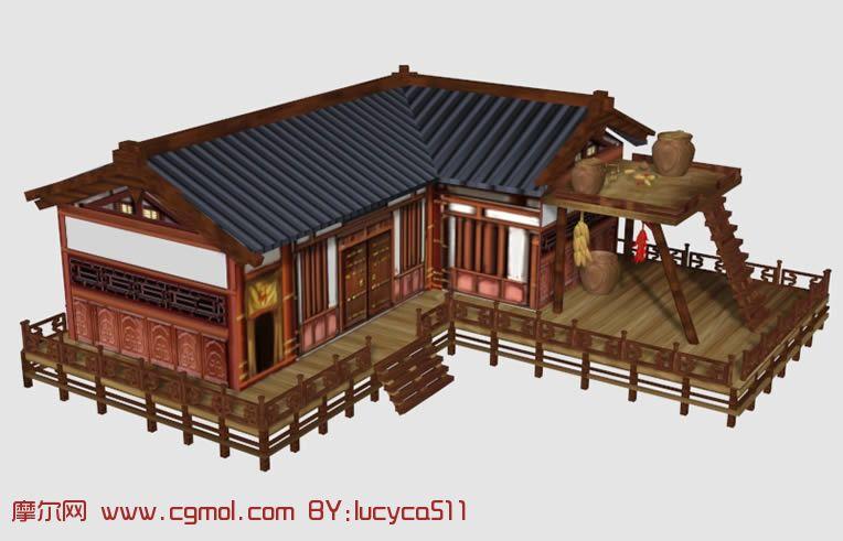 古典建筑,中式建筑,max模型