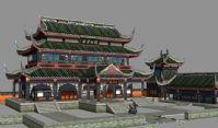 《诛仙2》玉清殿建筑3D模型