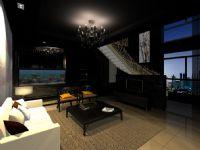 复式结构的客厅设计,max模型