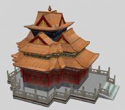 古代建筑,古建,max模型