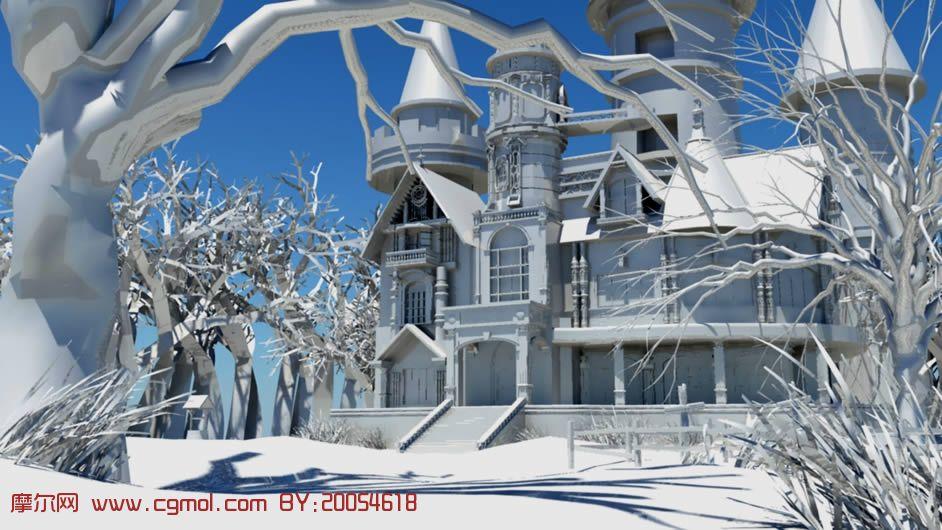 房子场景,maya模型 高清图片