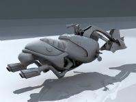 超炫未来摩托车3D模型