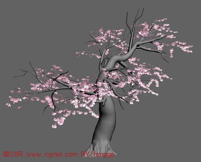 春天桃樹的簡筆畫內容圖片展示