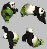 功夫熊猫阿宝3D模型(带35套动作)