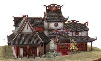金沙客栈,古代建筑3D模型