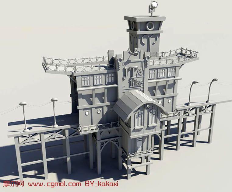 maya场景模型 maya场景模型三视图高清图片