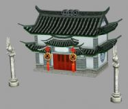 游戏中的建筑3D模型
