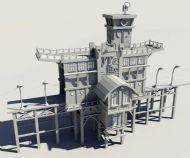 牌楼,大门,建筑maya模型