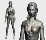 高精度女人,女性3D模型