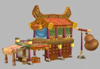 卡通建筑3D模型
