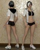 时尚女人,摩登女郎,人体3D模型
