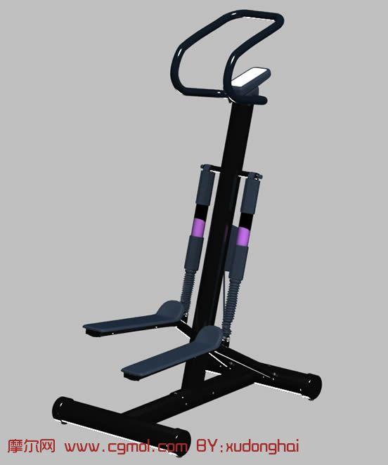 腿部锻炼健身器材3d模型